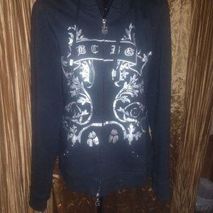 BCBG Large zip up sweatshirt